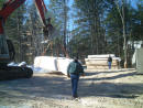 Delivery of Log home At Customer Site